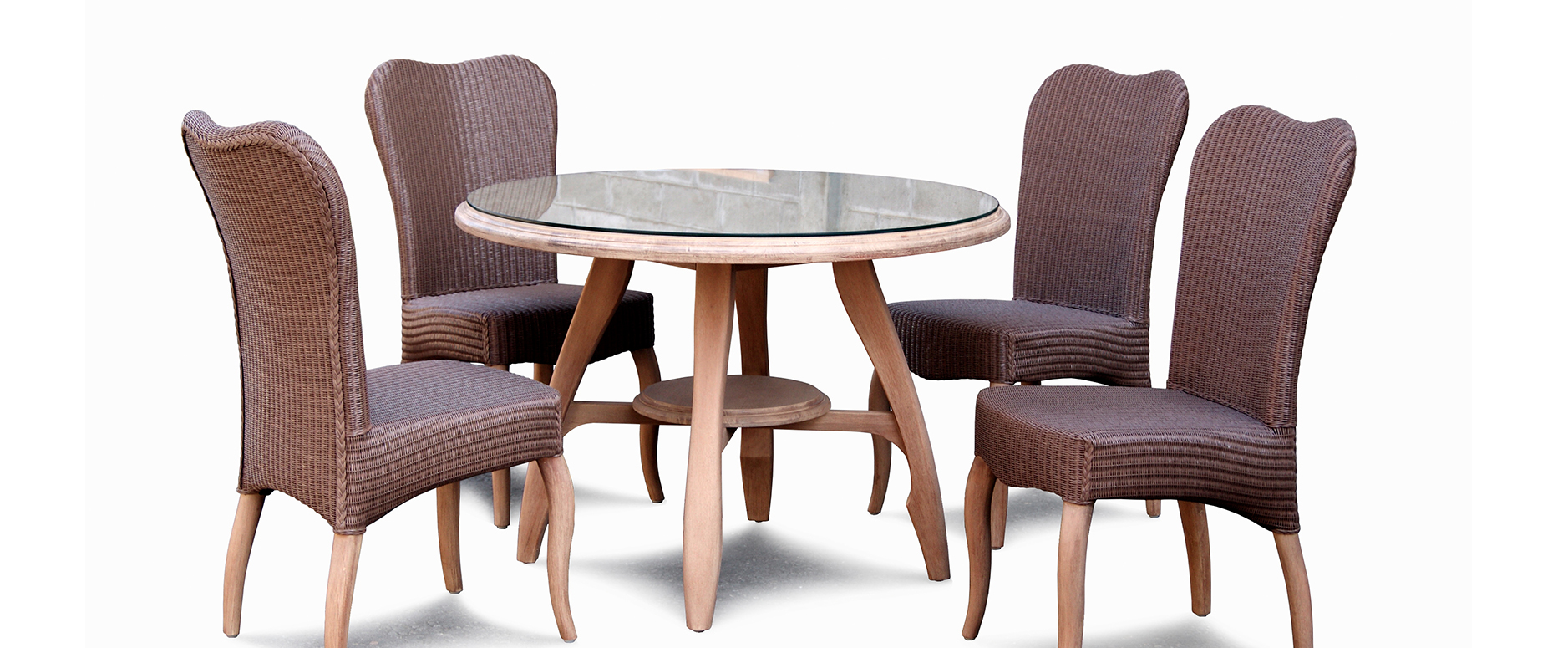 Dining set ( Side chair E15-WRL 0601 & Round dining table E15-W 0801 ) - SLIDE 2